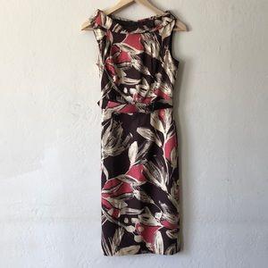 David Meister Silk Career Midi Dress Size 2